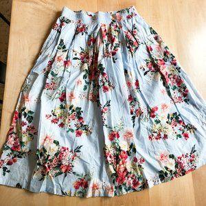 Tommy Hilfiger Floral High Waisted Skirt Size 6